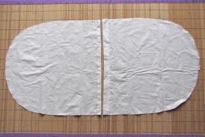 Tessuto in cotone per il davanti della federa.